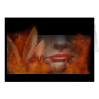 Natural Woman Earth Fire Greeting Card