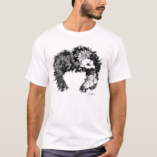 Natural Woman- Flowered Afro Hair T-Shirt