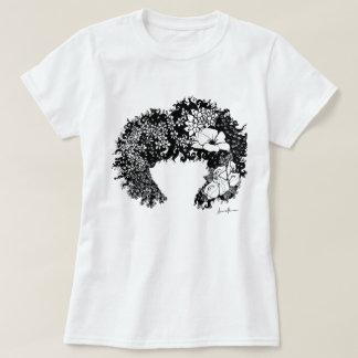 Natural Woman - Flowered Afro Hair T-Shirt