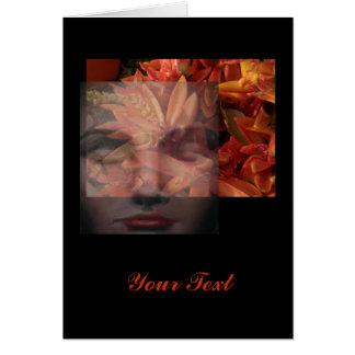 Natural Woman Meditation Greeting Card