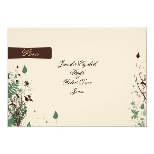 Natural Wonder in Ivory and Brown Wedding Card