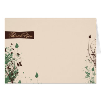 Natural Wonder in Ivory Brown Wedding Thank You Card