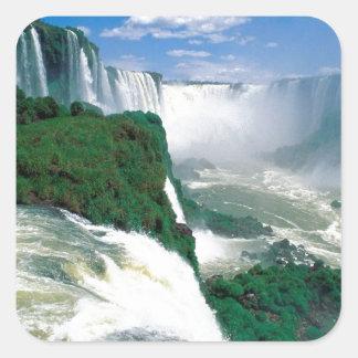 Natural  Wonder  of Iguassu  Angie Square Sticker