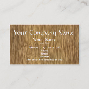 Simple wood background business cards zazzle natural wood background custom business cards reheart Images