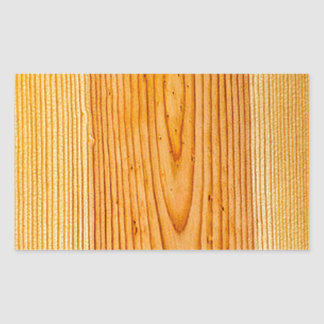 Natural Wood Grain Design 1 Rectangle Stickers