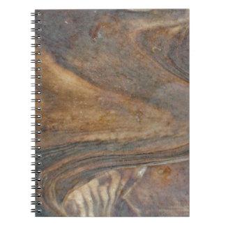 Natural Wood Pattern Spiral Notebook