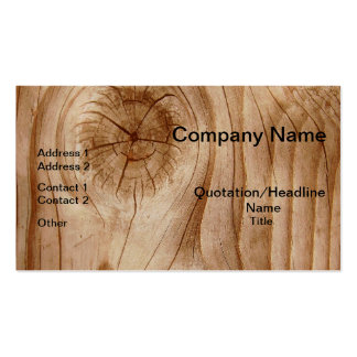 Natural Wood Professional Business Cards