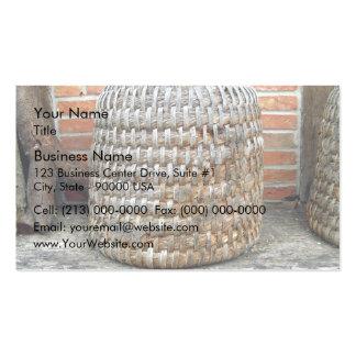 Natural Wooden Basket Business Card