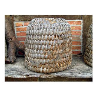 Natural Wooden Basket Postcard