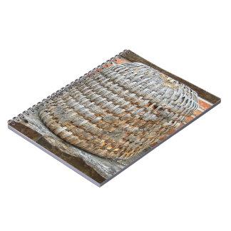 Natural Wooden Basket Spiral Notebook