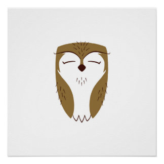 Natural Woodland Owl Poster
