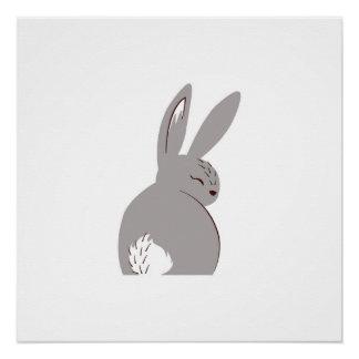 Natural Woodland Rabbit Poster