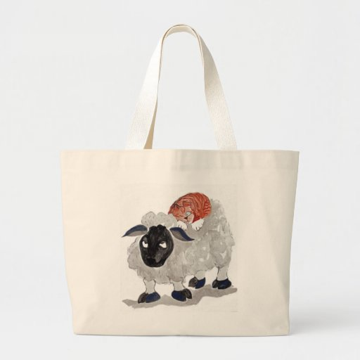 Natural Wool Cat Nap   Sumi-e Bag