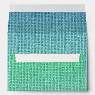 Natural Woven Neon Green Burlap Sack Cloth Envelope