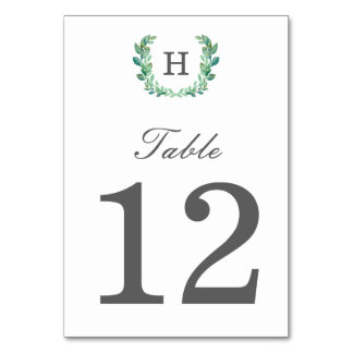 Natural Wreath Table Number