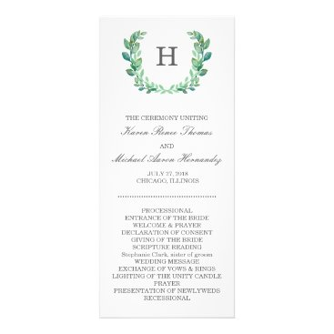 goskell Natural Wreath Wedding Program