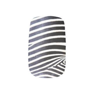 Natural Zebra striped nails Minx ® Nail Wraps