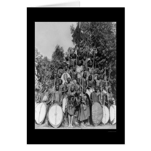 Naturales de Kavirondo en África 1914 Tarjeta De Felicitación