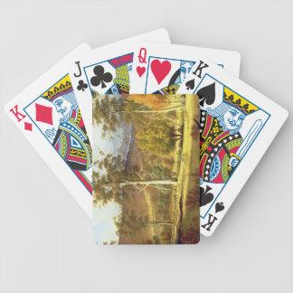 Naturales en el bosque en los llanos de los molino barajas de cartas