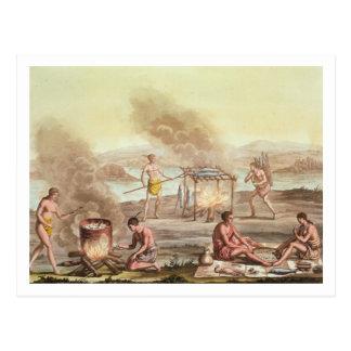 Naturales indígenas de la preparación de la tarjetas postales