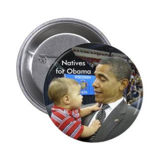 Naturales para Obama Pins