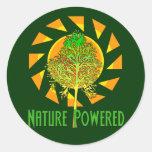Naturaleza accionada pegatina redonda