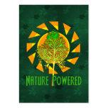 Naturaleza accionada tarjetas de visita grandes