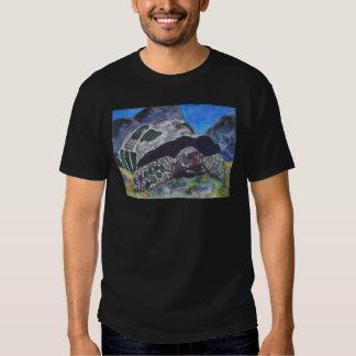 Naturaleza acuática de la tortuga de la tortuga remeras