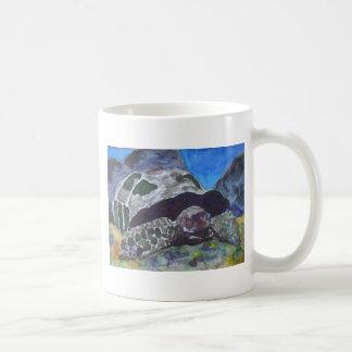Naturaleza acuática de la tortuga de la tortuga ví tazas de café