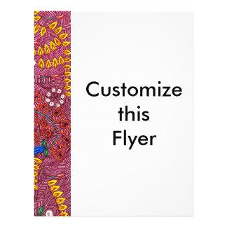 Naturaleza adaptable en el caos floral y las hojas tarjetas publicitarias
