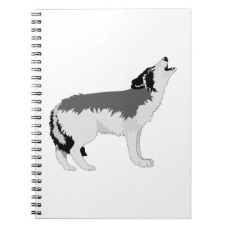 Naturaleza americana del destino del lobo gris libros de apuntes con espiral