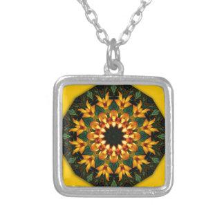 Naturaleza anaranjada del iris amarillo, colgante cuadrado