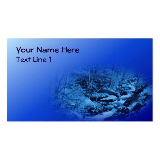 Naturaleza azul de la corriente de la fantasía tarjeta personal