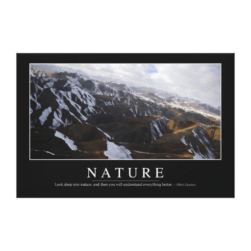 Naturaleza: Cita inspirada Impresión En Lienzo