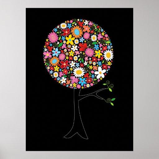 Naturaleza colorida caprichosa del árbol del estal impresiones