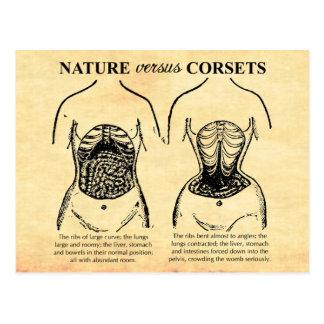 Naturaleza contra los corsés tarjetas postales