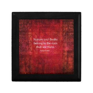 Naturaleza de Emily Bronte y cita de los libros Cajas De Recuerdo