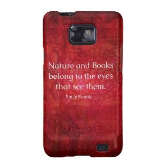 Naturaleza de Emily Bronte y cita de los libros Galaxy SII Carcasa