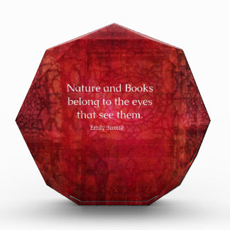 Naturaleza de Emily Bronte y cita de los libros