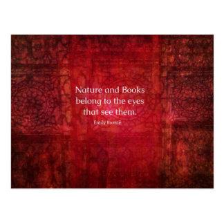 Naturaleza de Emily Bronte y cita de los libros Postales