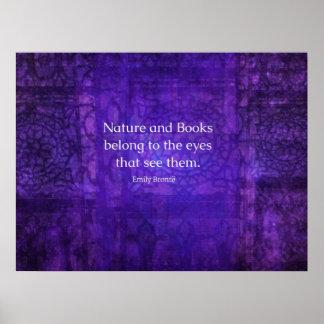 Naturaleza de Emily Bronte y cita inspirada de los Póster