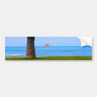 Naturaleza de Hawaii Etiqueta De Parachoque