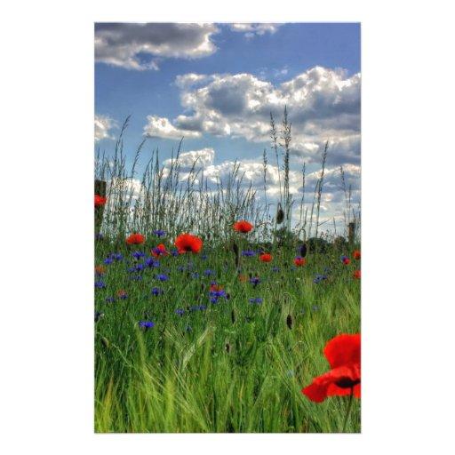 Naturaleza de la flor papeleria