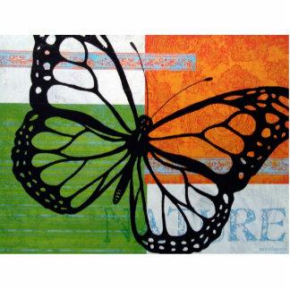 Naturaleza de la mariposa fotoescultura vertical