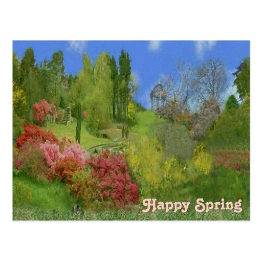 Naturaleza de la primavera postales