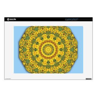 Naturaleza de los girasoles, Flor-Mandala Portátil 38,1cm Skin