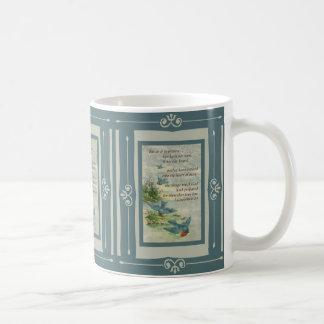 Naturaleza de los pájaros del verso de la biblia taza