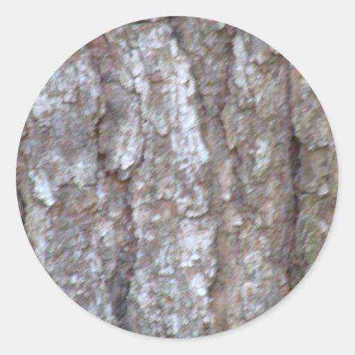 Naturaleza de madera natural del camuflaje de Camo Pegatina Redonda