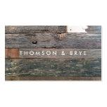 Naturaleza de madera reclamada vintage rústico del tarjetas de visita