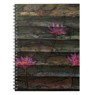 naturaleza de piedra floral de la flor rosada gris